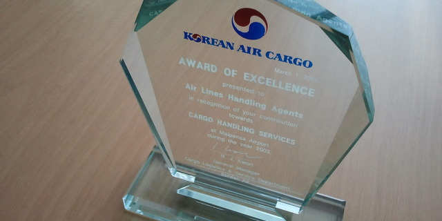 Korean Air award of excellence 2004
