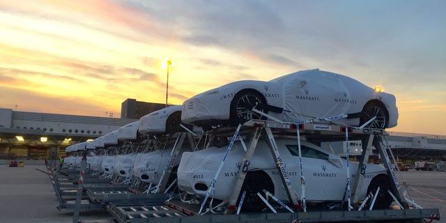 28 Maserati in partenza per Tokyo con AirBridge Cargo